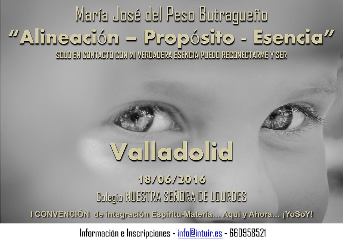 María José del Peso en la I Convención de integración Espíritu-Materia, Junio 2016 - Valladolid (España)